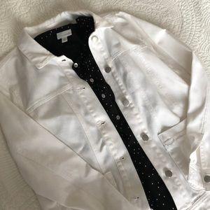 White denim jacket!!